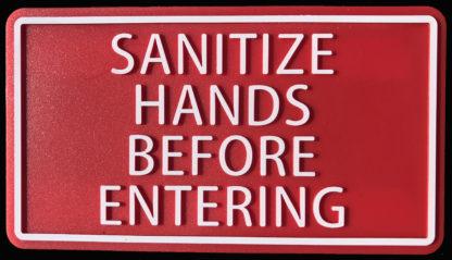 Sanitize hands plaque